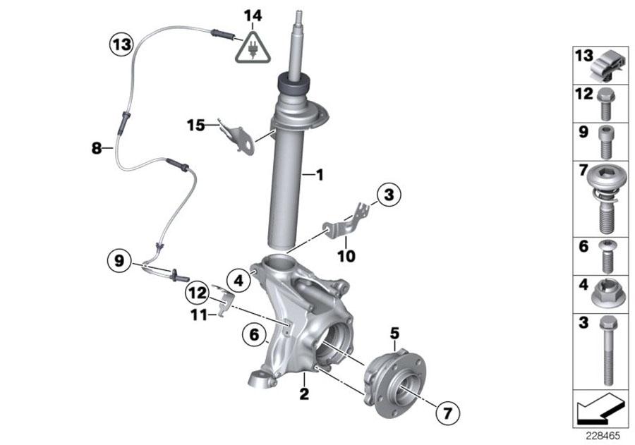 bmw x3 left front spring strut  suspension  struts  shocks
