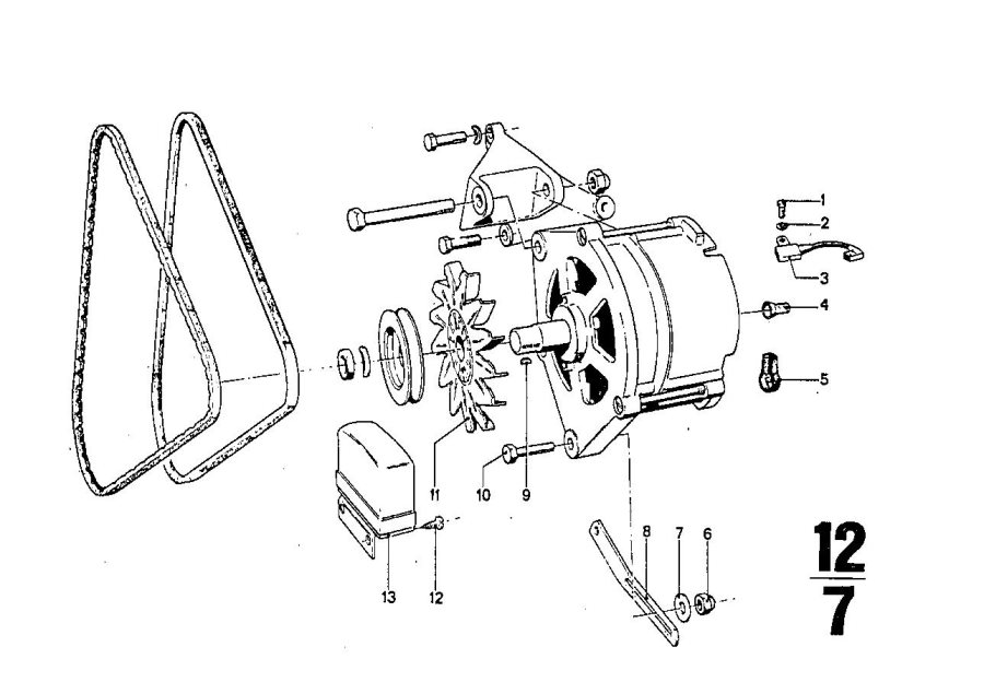 bmw 2800 voltage regulator  alternatormounting