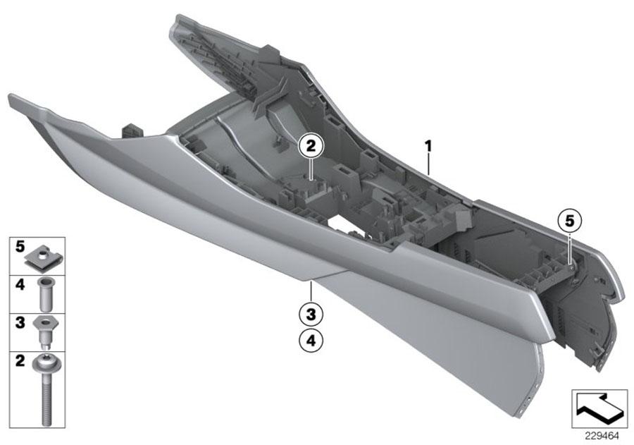 Bmw X3 Mount  Center Console  Savannabeige  Body  Armrest  Trim
