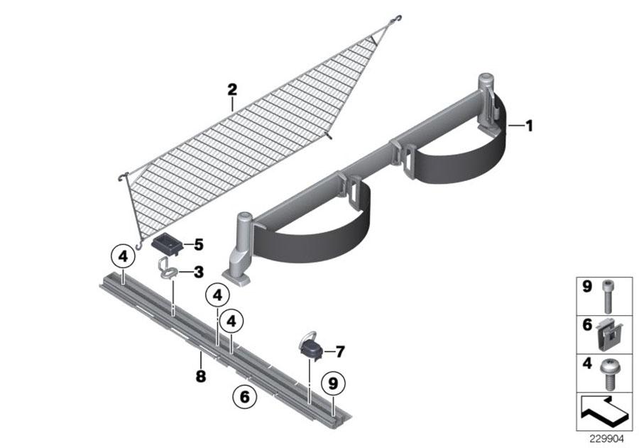Bmw X3 Tie-down Ring  System  Trim