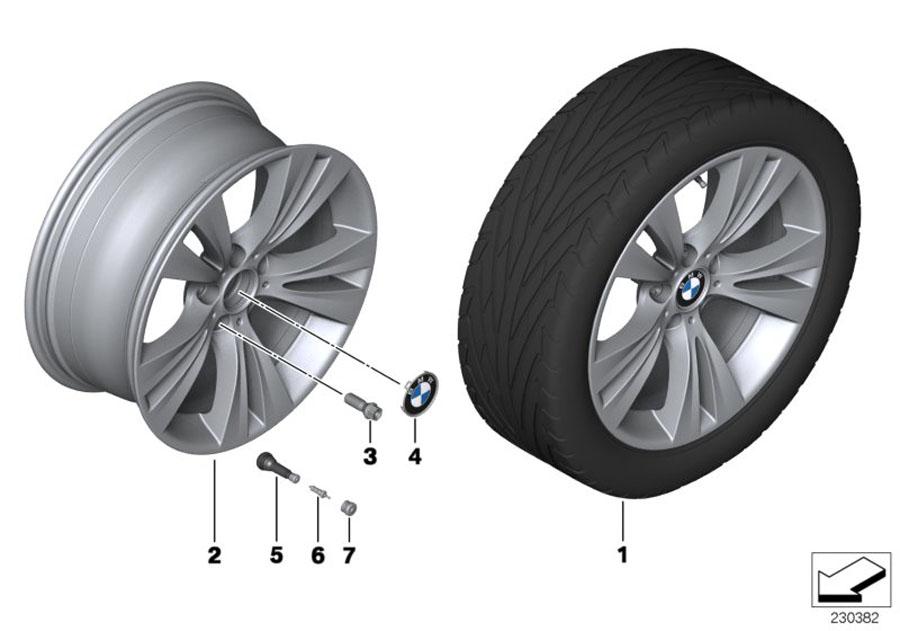 Bmw X3 Disc Wheel  Light Alloy  Reflexsilber  8  5jx19 Et 38
