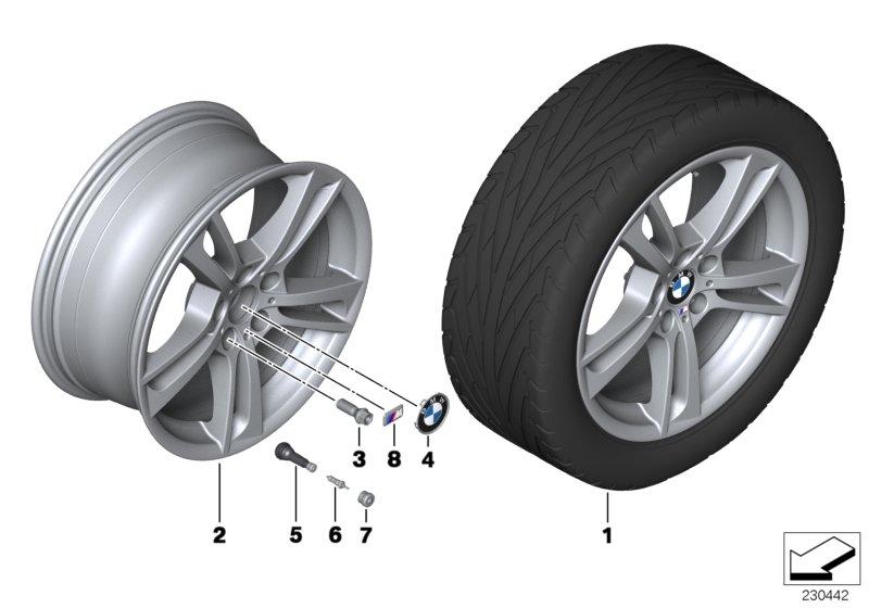 Bmw X3 Disk Wheel Light Alloy Dekor Silver 2  9  5jx19 Et 48