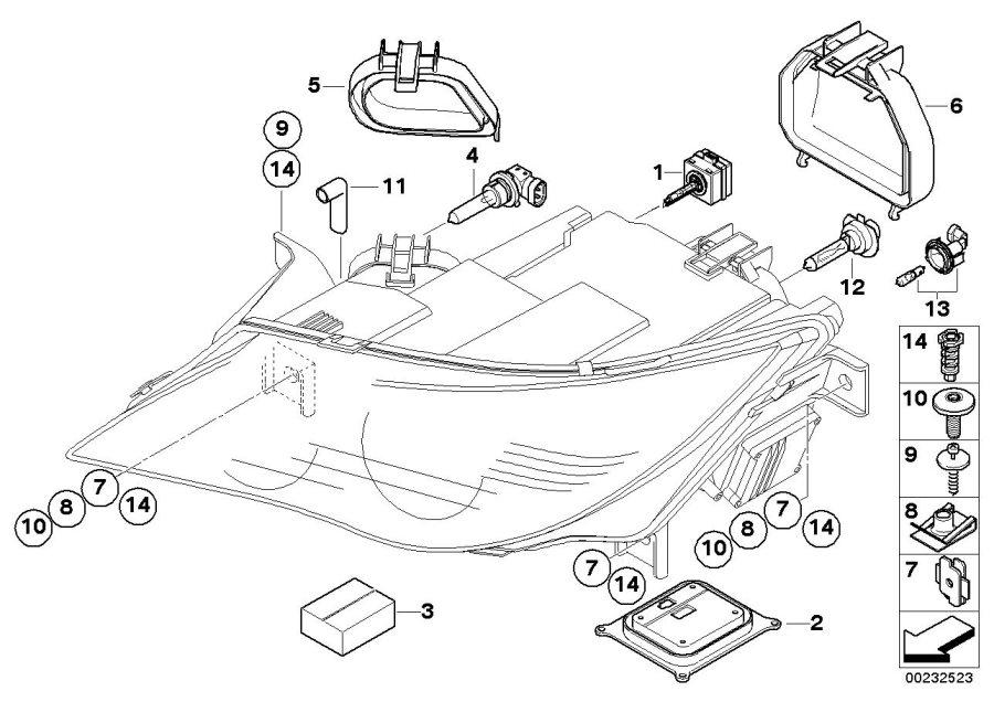 bmw m6 control unit directional light right headlight. Black Bedroom Furniture Sets. Home Design Ideas
