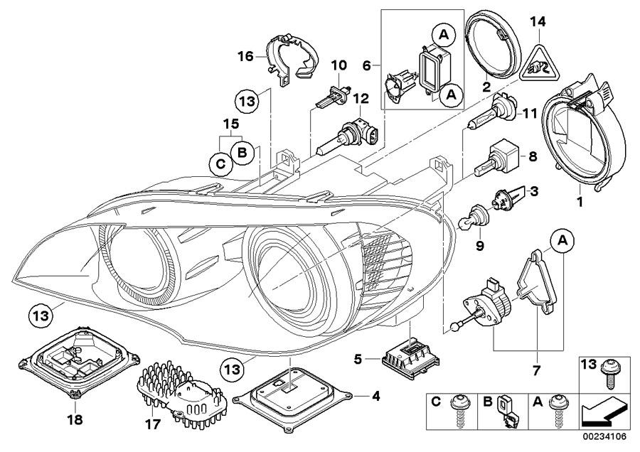 Bmw X3 Repair Kit  Hvac Servomotor  Headlight  Components