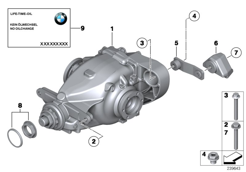 Bmw X1 Hypoid Axle Oil G1  3 X 0  5l  Rex  Drive  Output