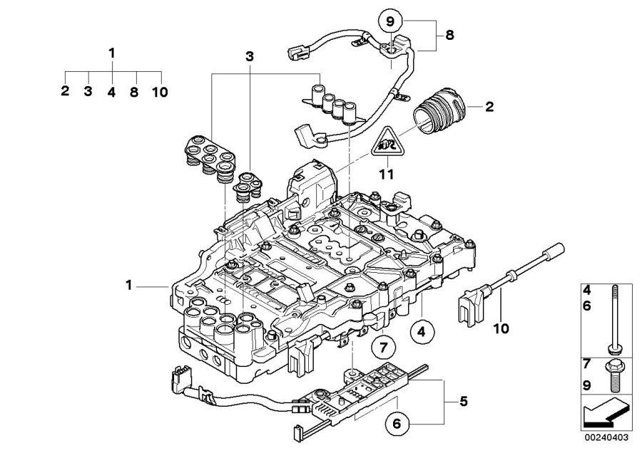 bmw 323i gear selector slide valve  transmission