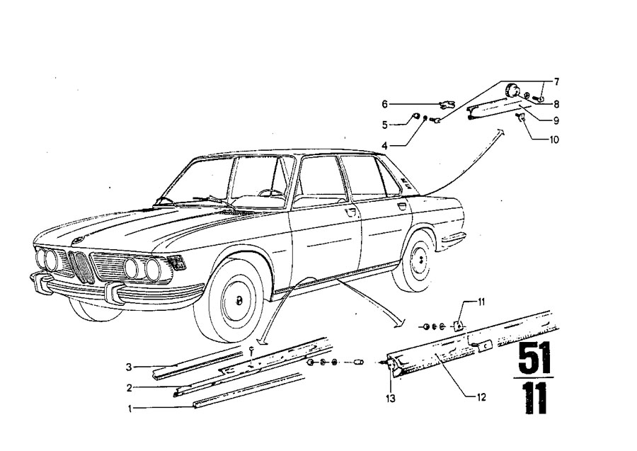 bmw 320i gasket ring  fuel  trim  tank