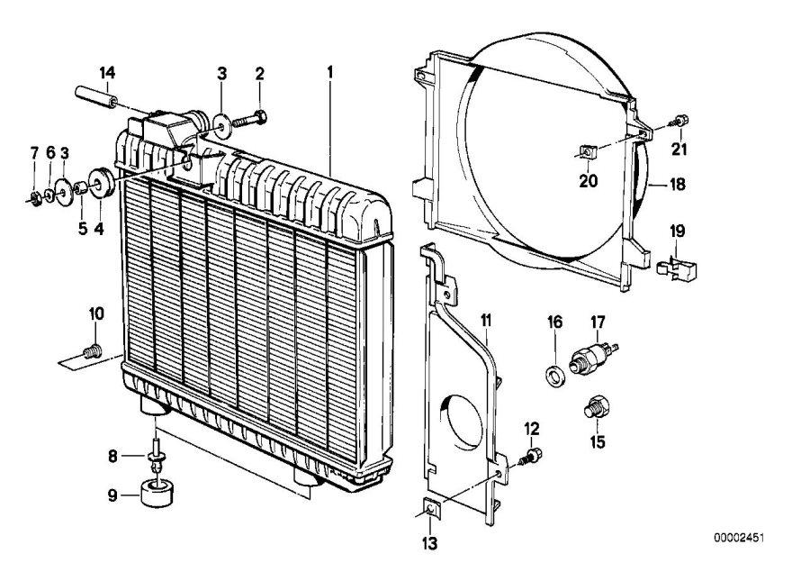 Bmw M3 Drain Plug Radiator  M10  Engine  Cooling  Frame