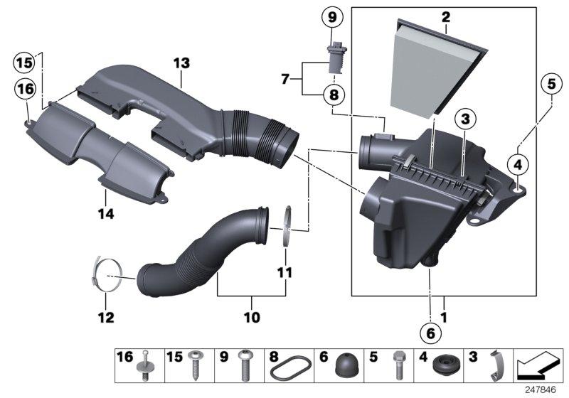13717539911 Bmw Decoupling Element Intake Silencer
