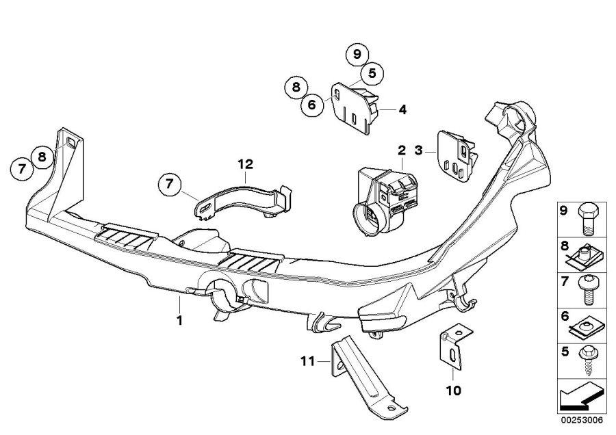 BMW M3 Bracket for headlight arm  right  51117148180
