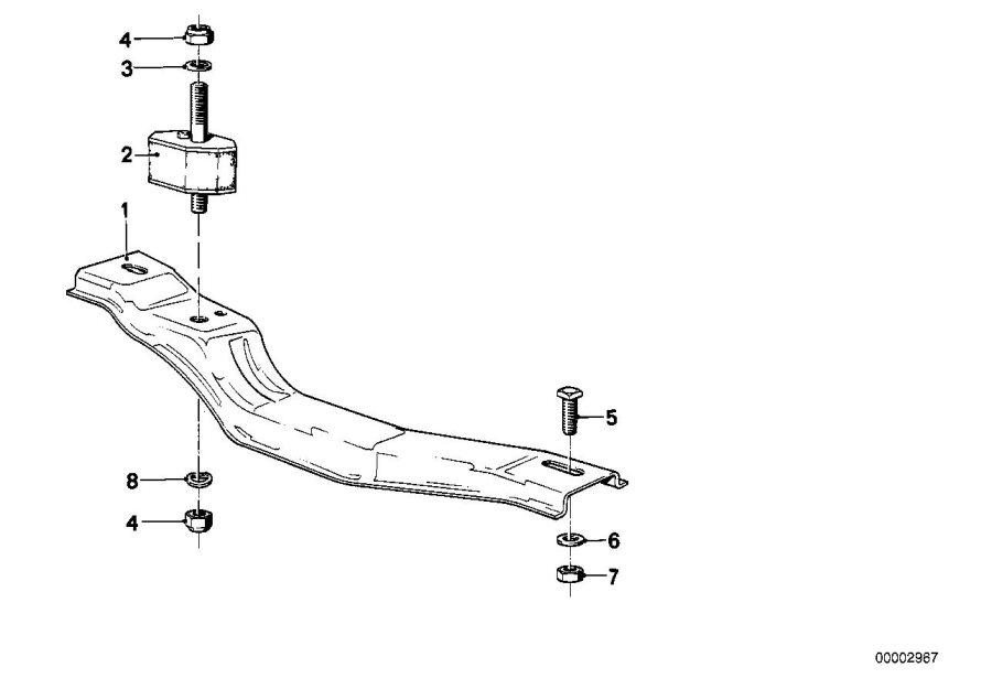 bmw 635csi cross member  suspension