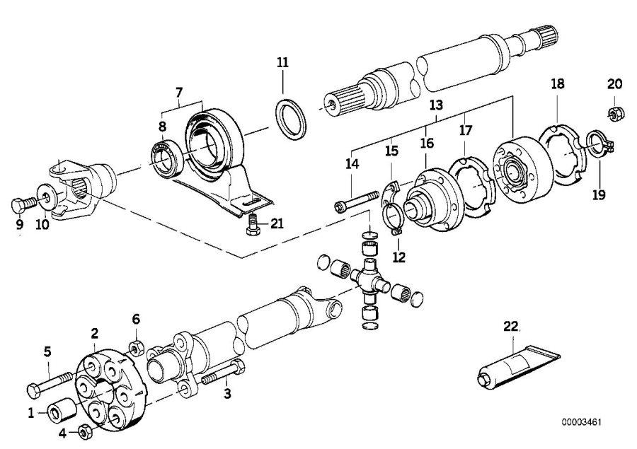 bmw 540i washer-gasket  vl-107  shaft  drive
