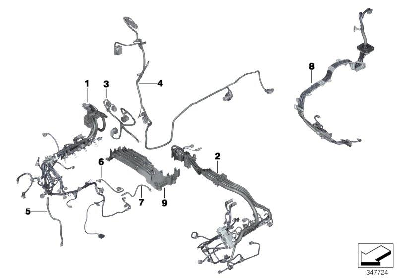 bmw x5 adapter lead  alternator  alpina  harness  engine