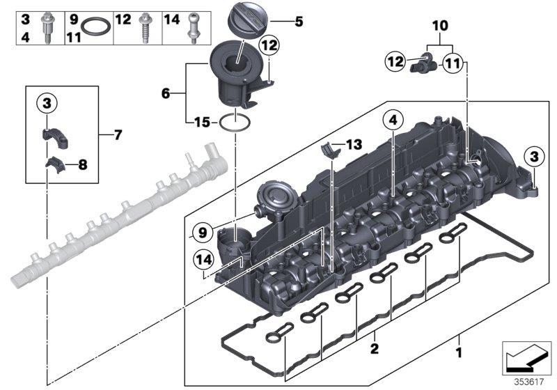 Bmw X5 Camshaft Sensor  Engine  Cylinder  Head