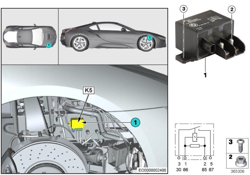 Bmw I8 Relay  Isolation  Incl