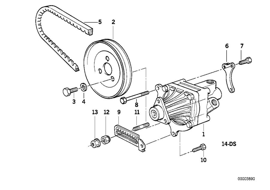bmw 318is pulley  steering  pump  hydro