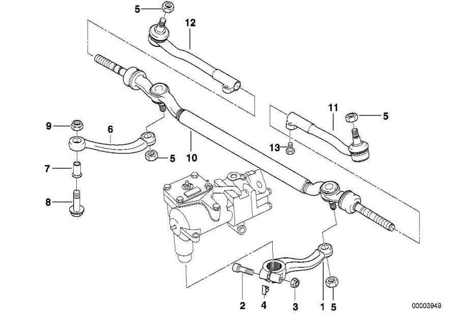 Bmw 750il Tie Rod  Center  Lhd  Steering