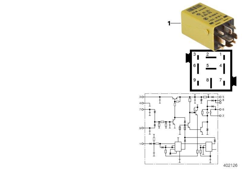 1997 BMW M3 Starter interlock relay. System, Electrical ...