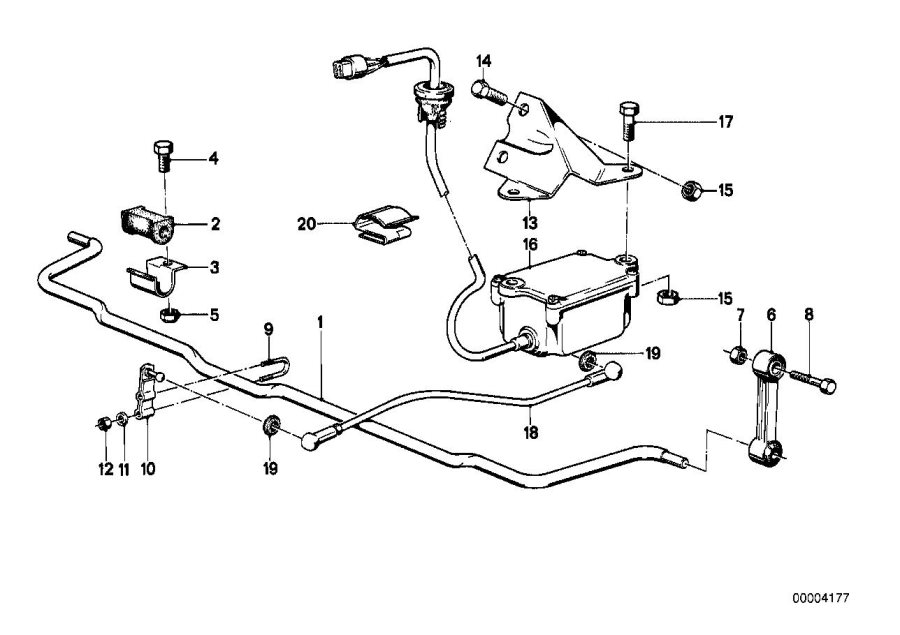 bmw 635csi stabilizer link  suspension  rear  axle