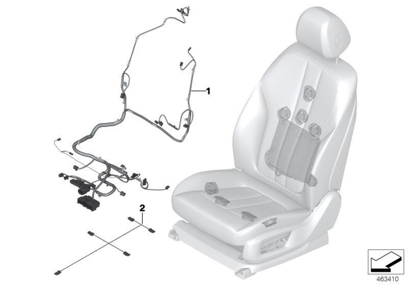 2020 Bmw Alpina B7 Wiring Harness Comfort Seat Right