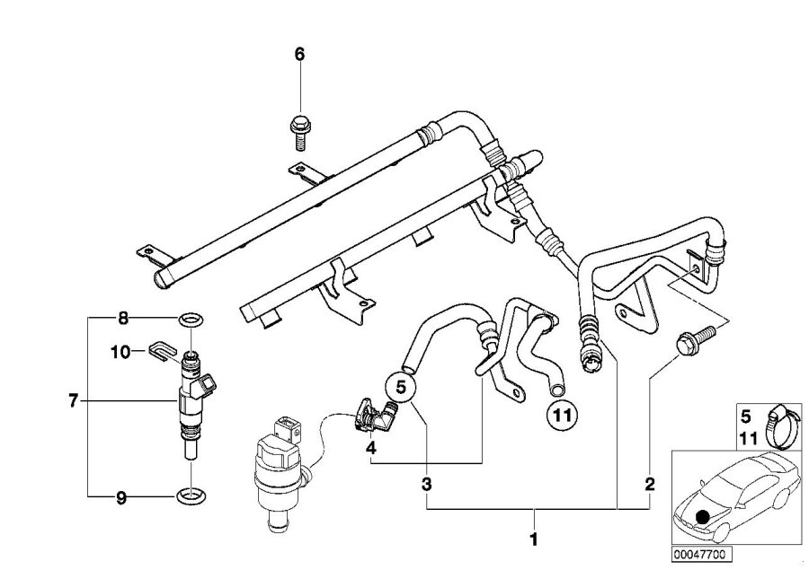 bmw m5 injection valve  fuel  system