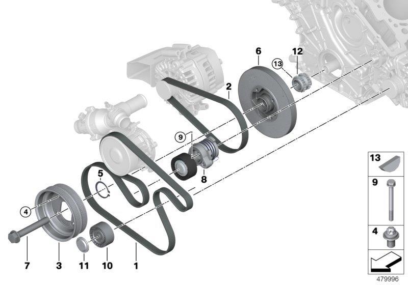 Bmw X5 Deflection Pulley  Drive  Belt
