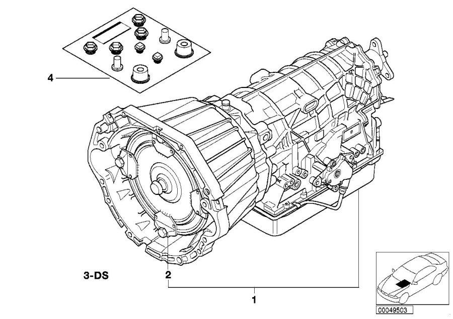 Bmw 540i Exch Automatic Transmission Eh A5s 440z Te