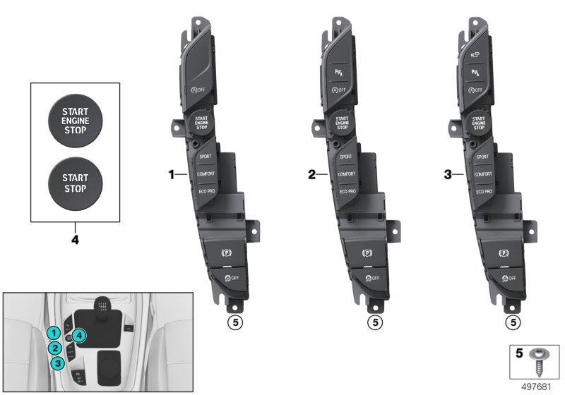 2018 Bmw Z4 30i Repair Kit Trims Start  Stop Button