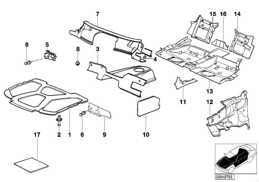 bmw 325i sound insulating engine hood  insulation