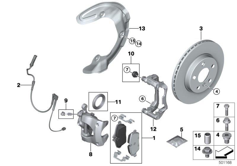 Bmw X1 Repair Kit Ventilation Valve  Brake  Rear  Wheel