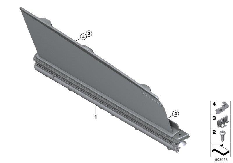 2020 BMW 840i Torx sheet-metal screw. ISA ST4, 2X13 ...