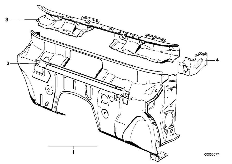 bmw 528e carrier instrument panel  body