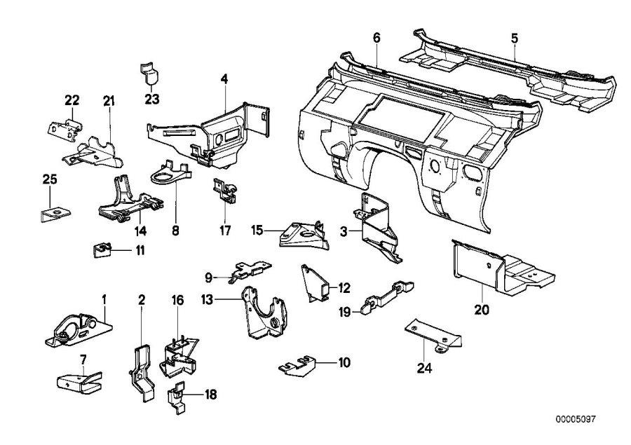 41148116394 Bmw Bracket Acceleration Sensor Body Front