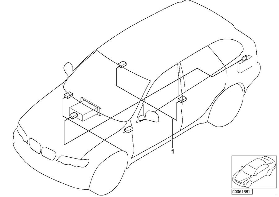 bmw x5 audio wiring harness hifi