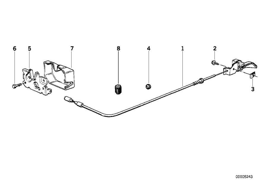 bmw m3 engine hood mechanism