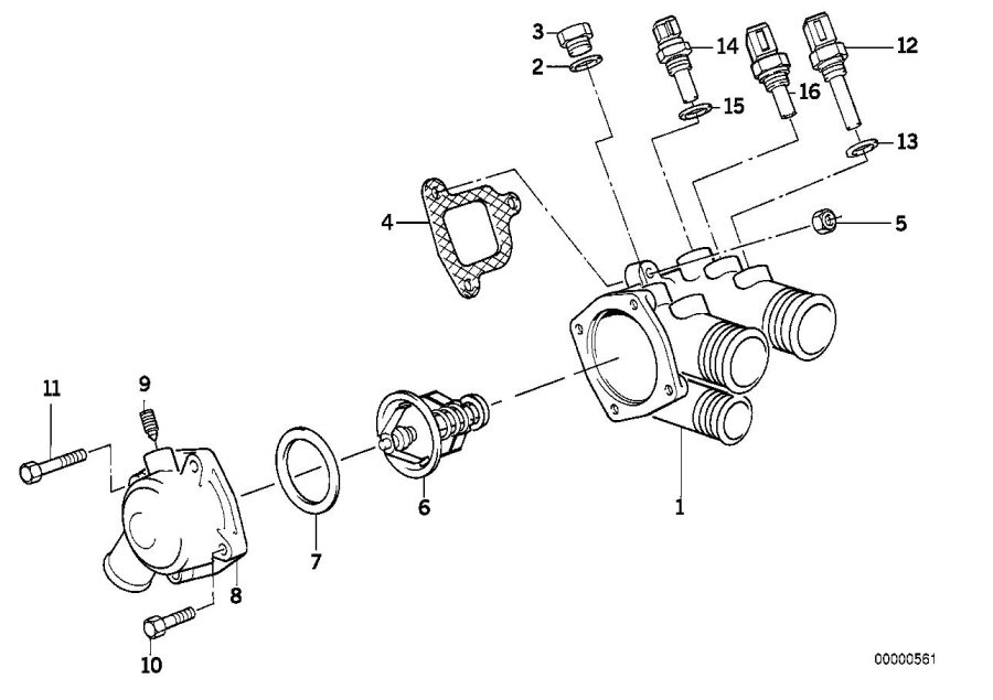 Bmw 735i Temperature Sensor  Water  M14x1  5  System