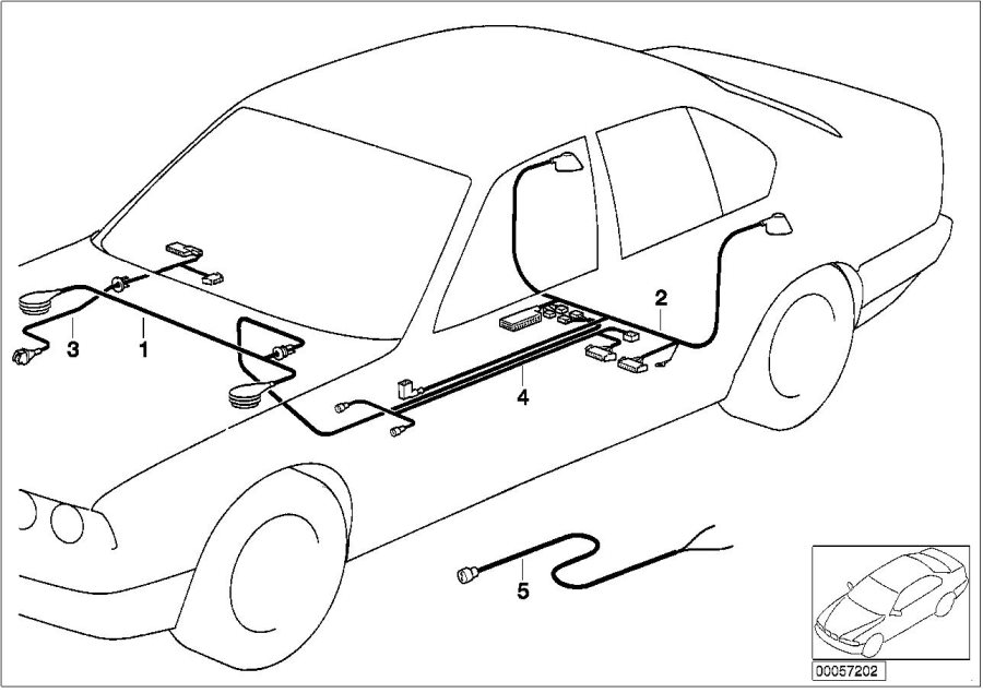 bmw 735i repair cable pdc  system  electrical  distance