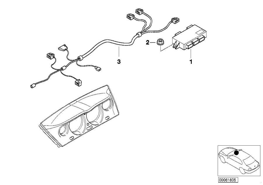 Bmw Alpina V8 Wiring Set  Instrument Cluster