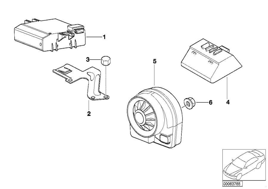 Bmw Z4 Module Radar Burglar Alarm System Electrical