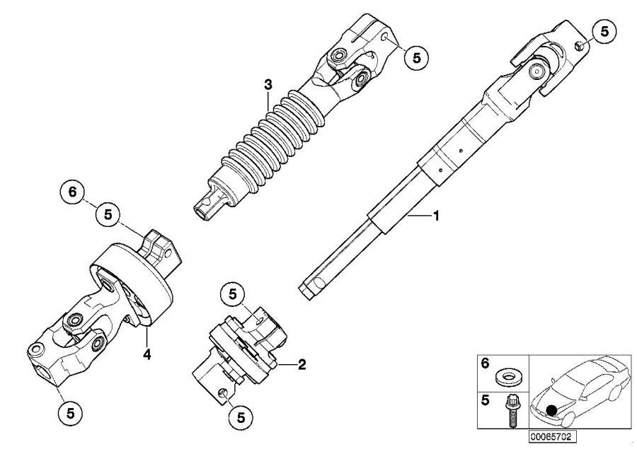bmw 330xi double joint with universal joint