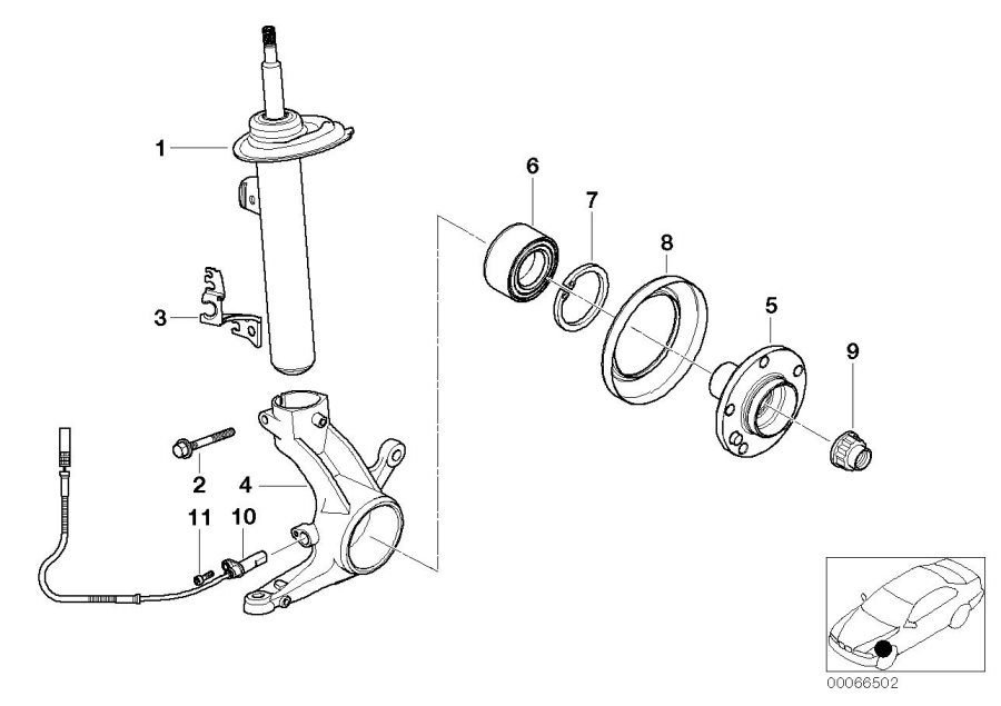 2005 bmw 330xi front suspension diagram