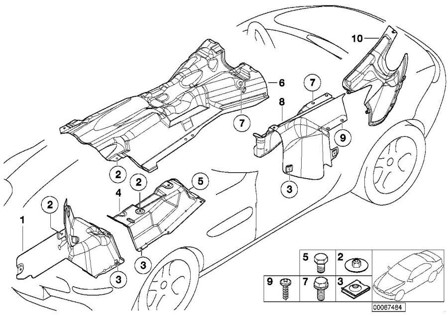 Bmw Z8 Heat Insulation Front Left  Trim  Body  Alpina