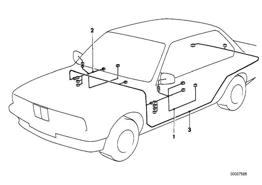 bmw 633csi wiring co drivers side 61121369272 bmw. Black Bedroom Furniture Sets. Home Design Ideas