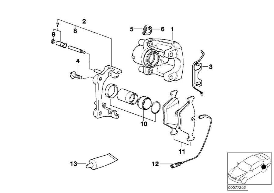 Bmw 525i Brake Pad Wear Sensor  Rear  Wheel  Brakes