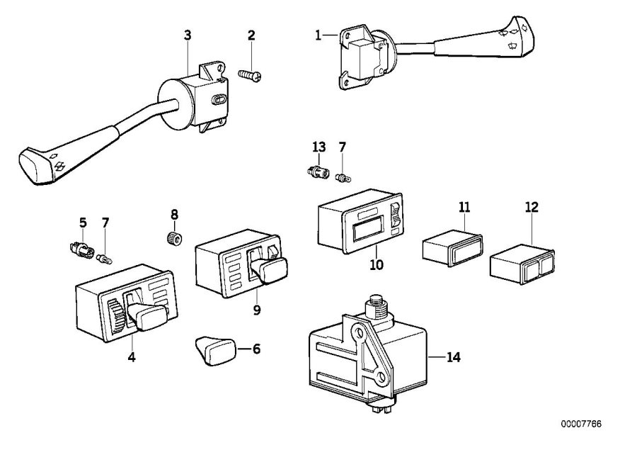 1976 bmw steering column diagram