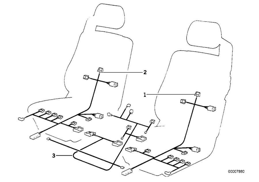 bmw 840i wiring set seat 61128367216 bmw northwest. Black Bedroom Furniture Sets. Home Design Ideas