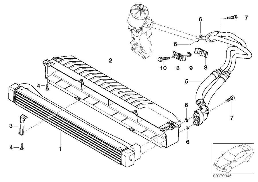Bmw M3 Bracket Oil Pipe  Cooler  Line  Engine