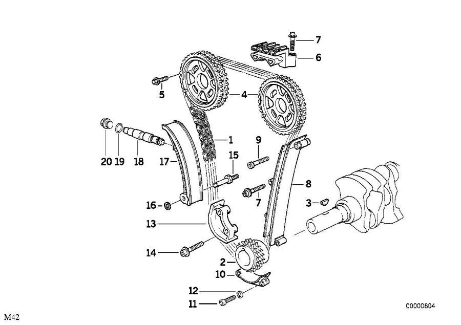BMW 318i Guide. Valve, Train, Timing - 11311734694 | BMW ...