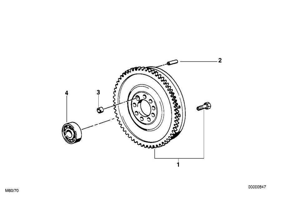 BMW 540i Twin Mass Flywheel. Engine, Drive, Crankshaft ...