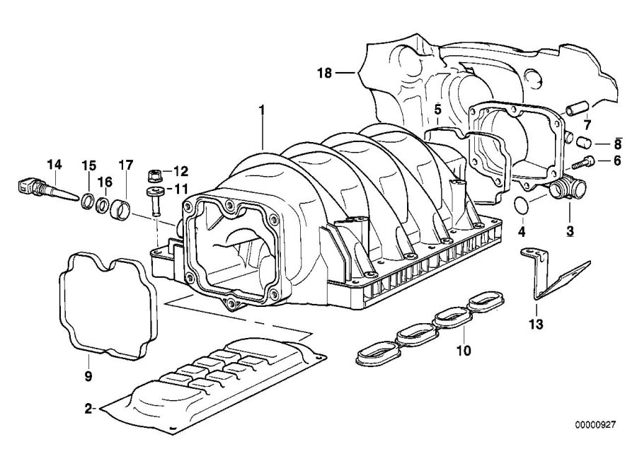 BMW 740iL Sound absorber. Intake, manifold, system, engine ...